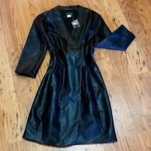 VENUS Black Leather Dress, 10 NWT